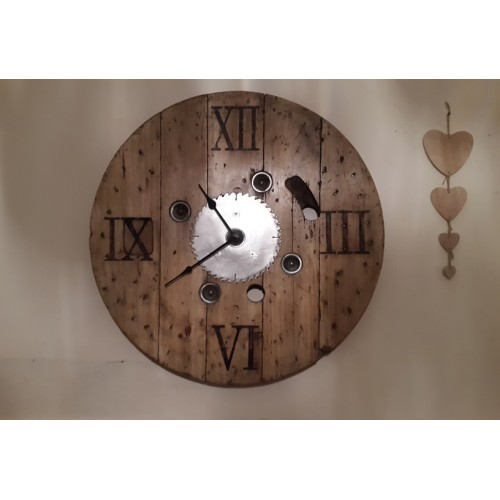 Cable Reel Clock